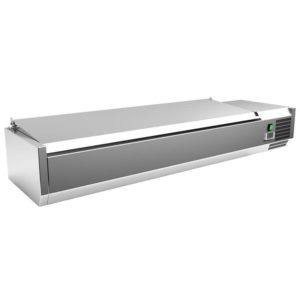 Image for cksonline.com.au for the Borrelli Prep Fridge Servery 1500mm with Stainless Steel Lid