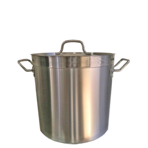 Image for cksonline.com.au for the Borrelli Stock Pot 25ltr – Stainless Steel with Lid