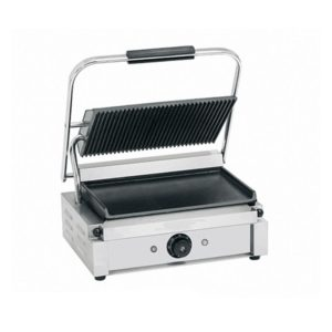 Image for cksonline.com.au for the Borrelli Large Contact Grill Ribbed Top Flat Bottom