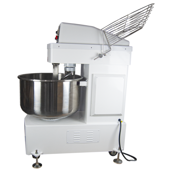 Image for the BORRELLI Spiral Dough Mixer 130ltr Side View Guard Up